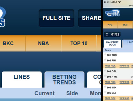 Scores and Odds Mobile
